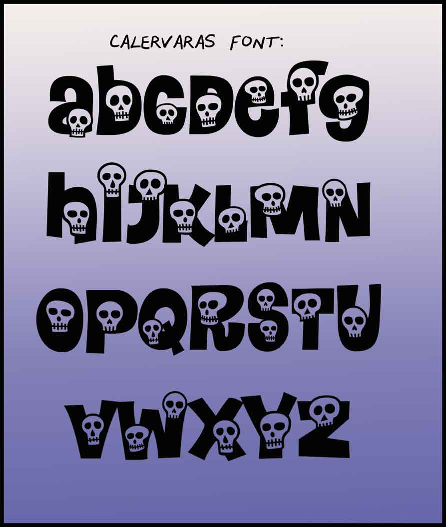 Halloween fonts | Carla Barrett