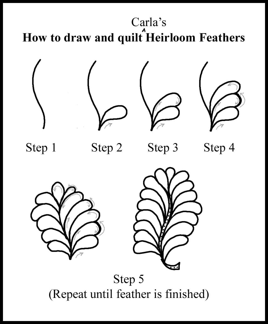 How to quilt Various Feathers, etc. | Carla Barrett : feather quilting stencils - Adamdwight.com