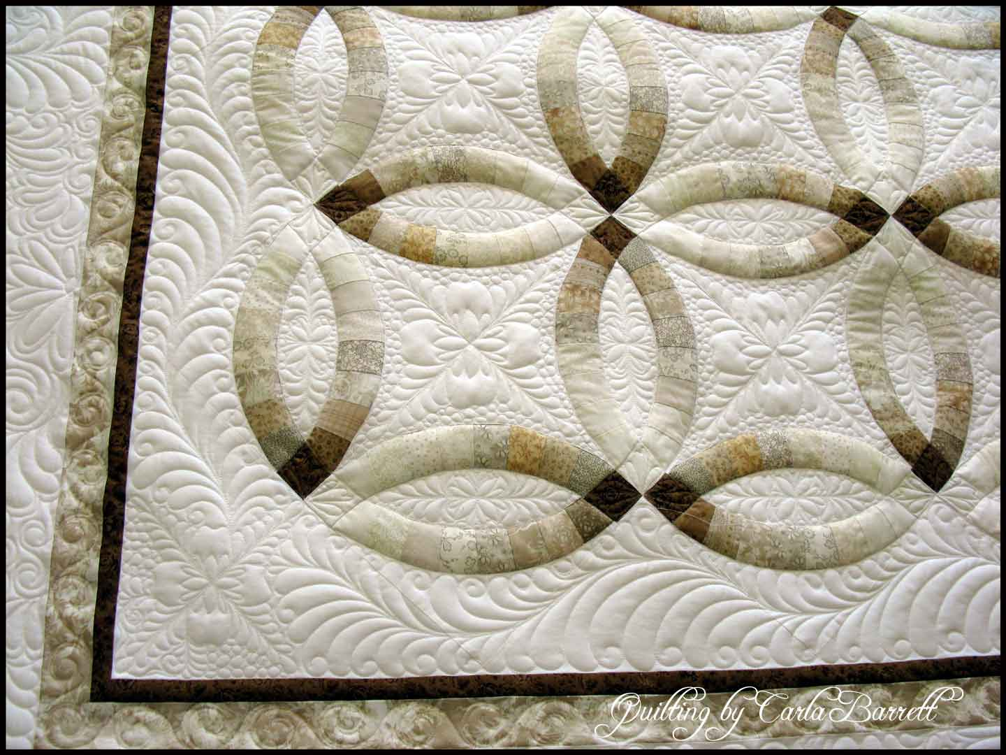 Finished Wedding Ring Quilt Carla Barrett