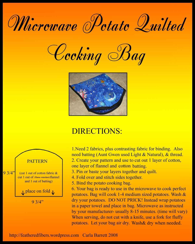 Microwave Potato Bag Pattern Free Patterns