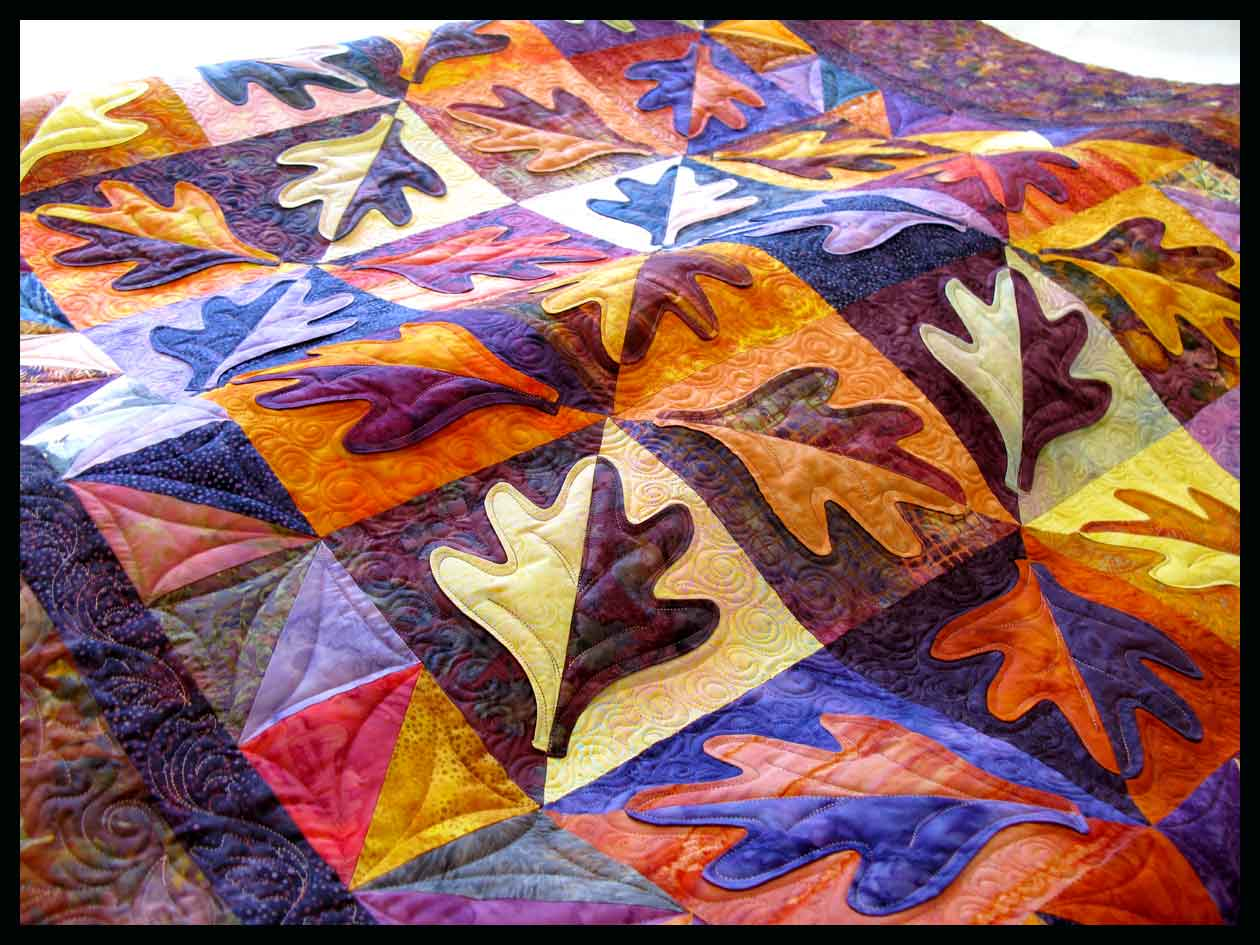 Quilt Template Leaves : leaf quilt Carla Barrett