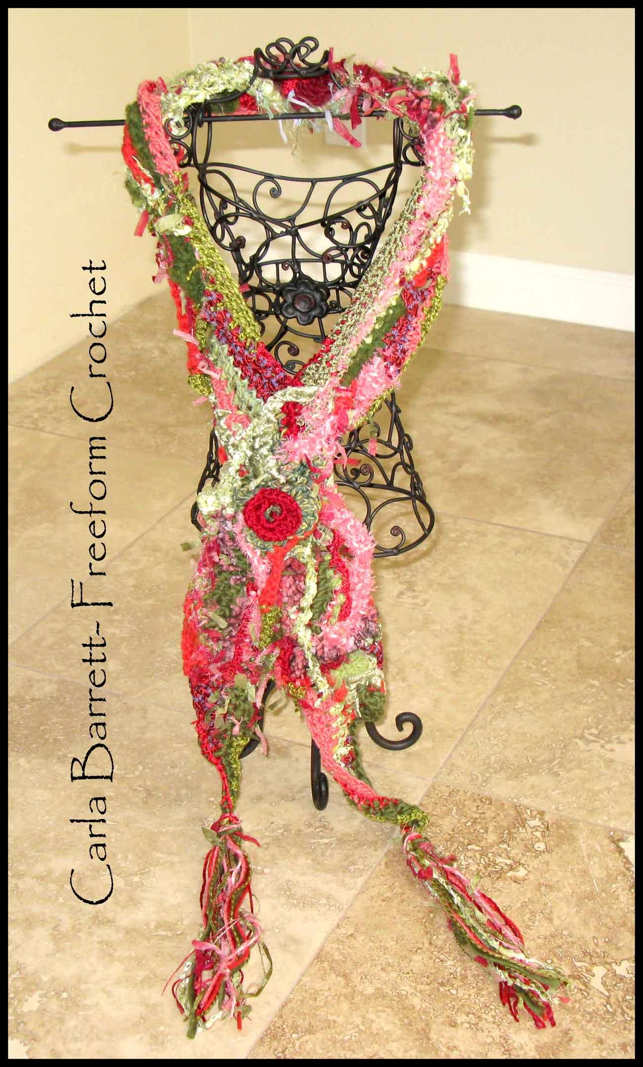 How To Crochet Scarf Tutorial : Carla s Freeform Crochet Scarf Tutorial Carla Barrett