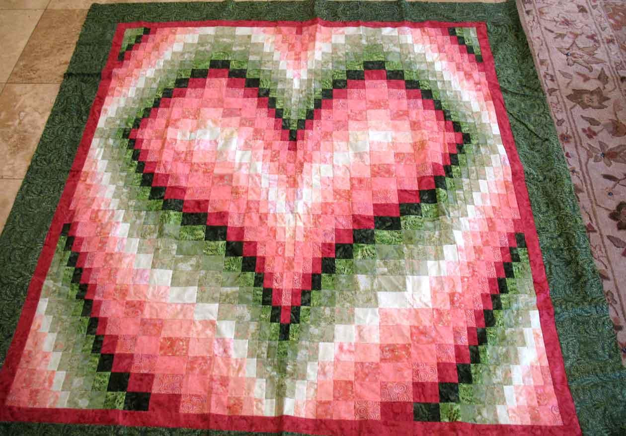 heart quilt | Carla Barrett : bargello heart quilt pattern - Adamdwight.com