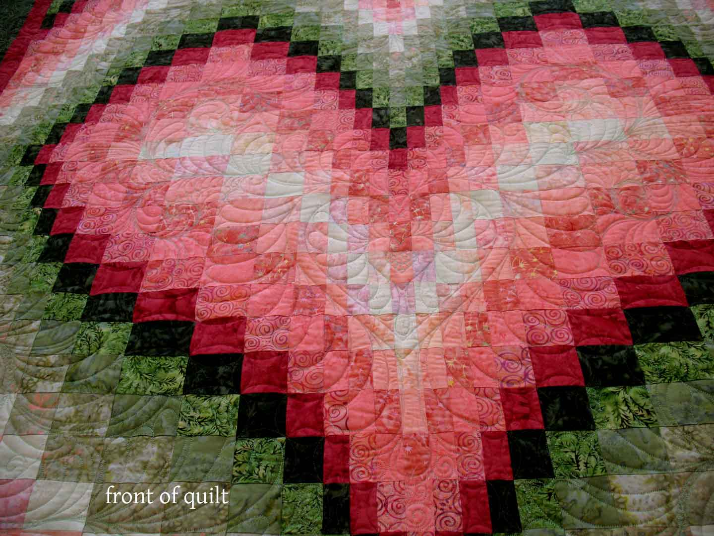 bargello quilt | Carla Barrett : heart bargello quilt pattern - Adamdwight.com