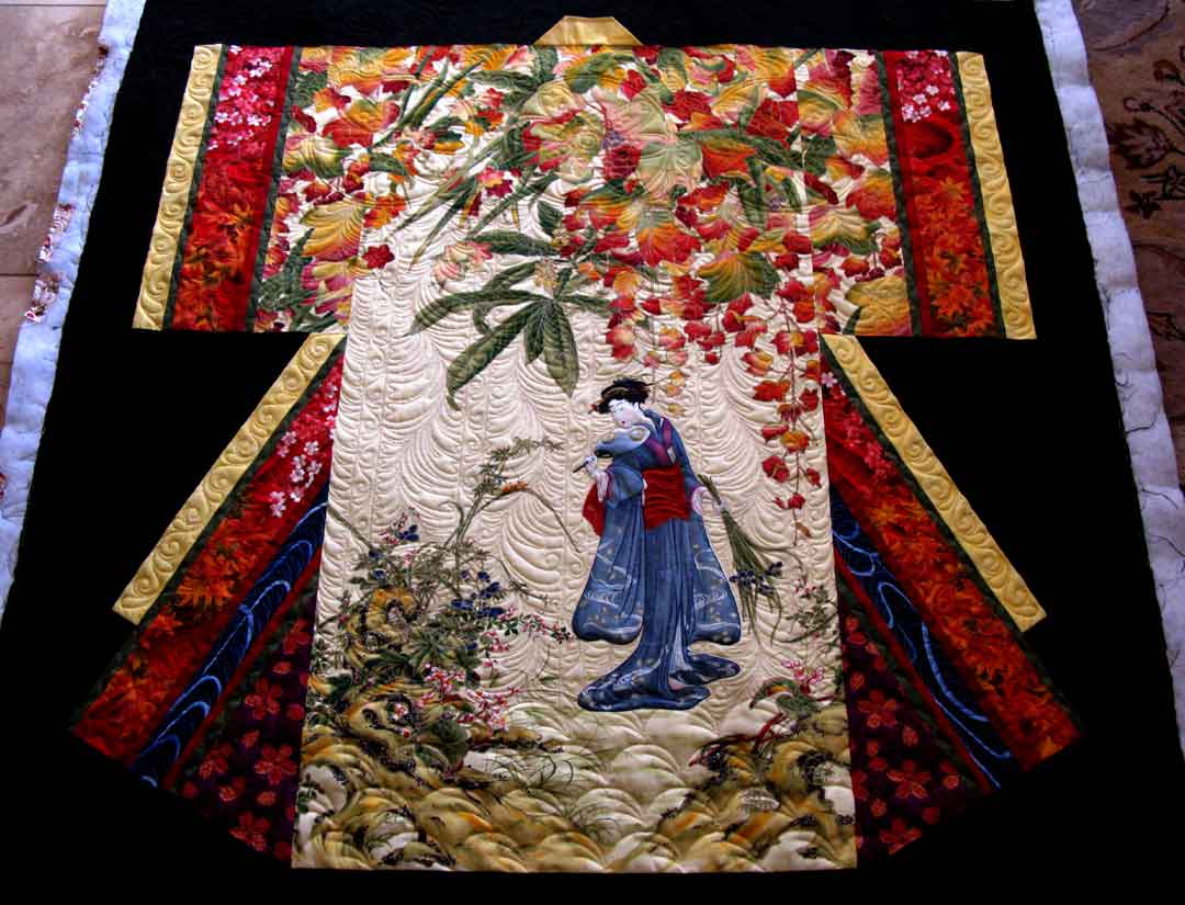 Quilts from Japanese textiles and fabrics