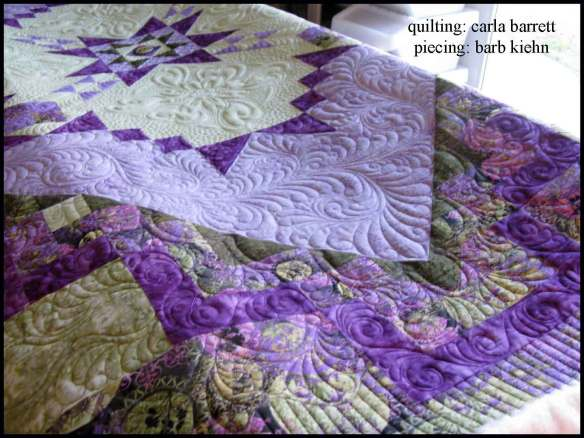 machine quilting by Carla Barrett