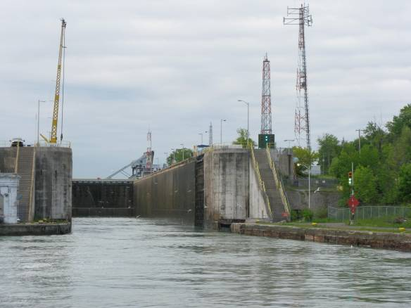 Entering Welland Lock 1