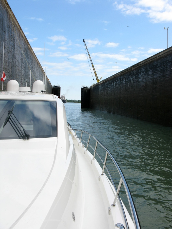 M/Y Odyssey inside of Welland Canal Lock 1