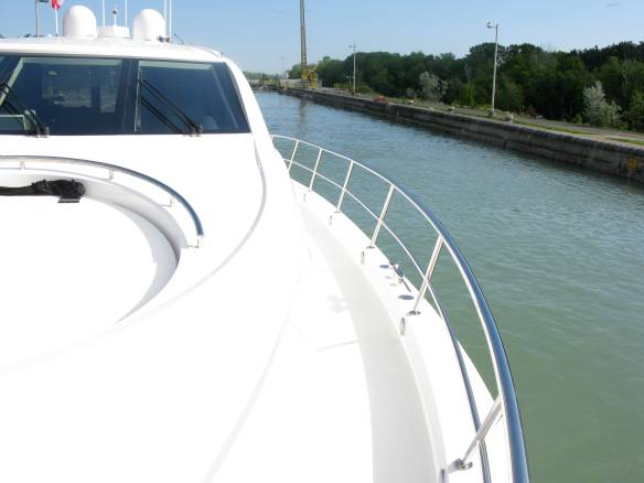 Lock is filled, doors open and we next move on to Lock 2