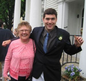 Joseph & Grandma at Graduation