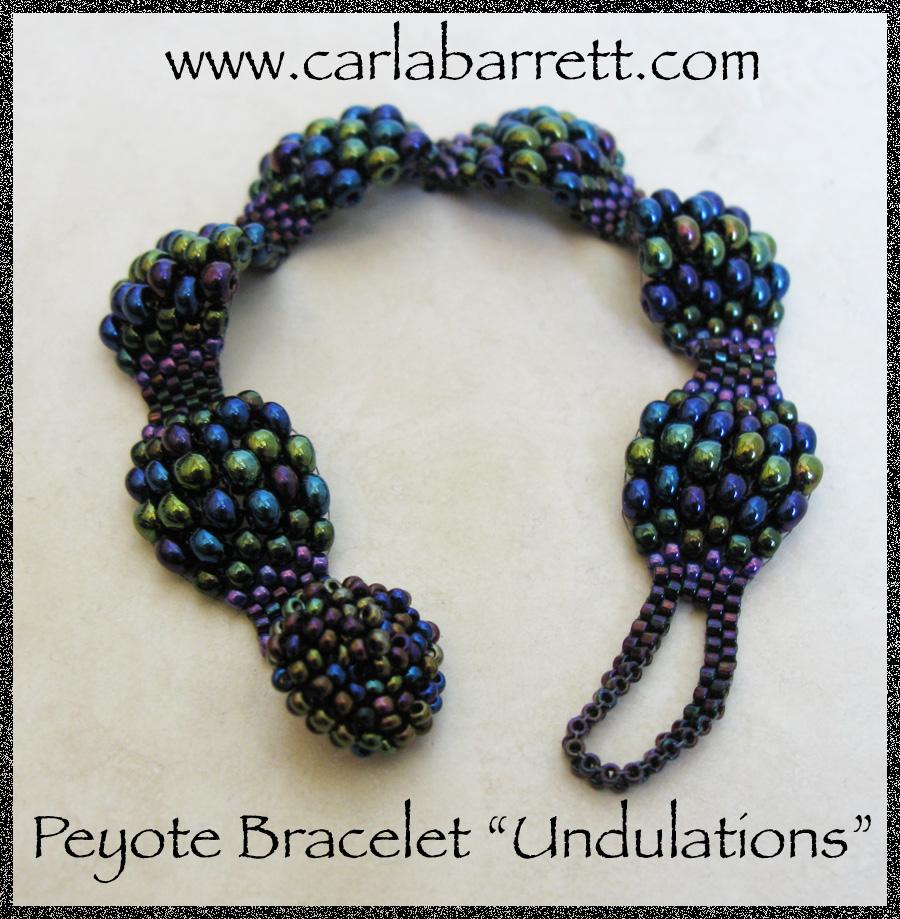 Peyote bracelet tutorial undulations carla barrett in baditri Image collections