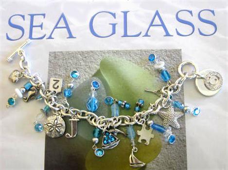 Sea glass charm bracelet carla barrett here solutioingenieria Images