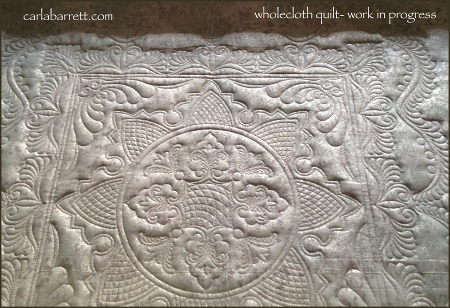 Wholecloth Quilt- WIP | Carla Barrett : wholecloth quilt kit - Adamdwight.com
