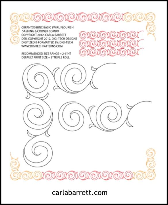 Swirl Flourish by Carla Barrett