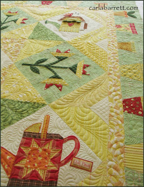 quilt pieced by Molly Evangelisti and quilted by Carla Barrett
