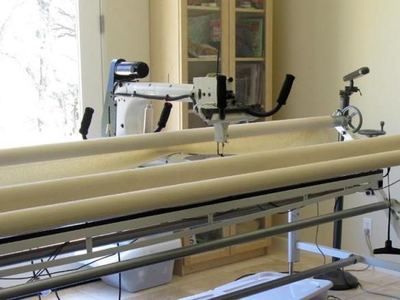 Carla Barrett's Longarm Quilting Machine