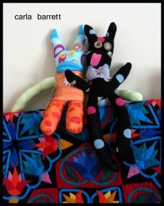 Carla Barrett's sock creatures