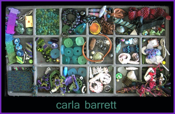 bead collage by Carla Barrett