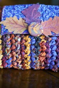 Fabric crochet purse detail by Carla Barrett