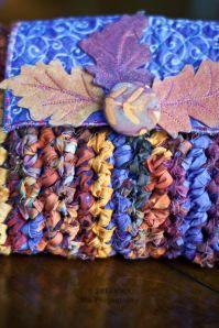 Fabric crochet purse detail by Carla Barrett