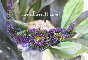 freeform beaded necklace by Carla Barrett