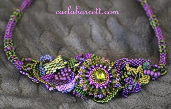 freeform beaded necklace by Carla Barrett