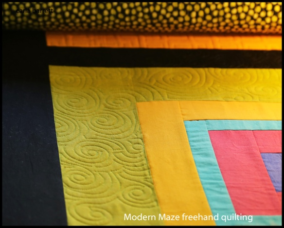 freehand quilting and design by Carla Barrett