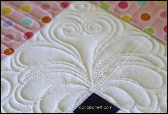 Heart Feather quilting design by Carla Barrett