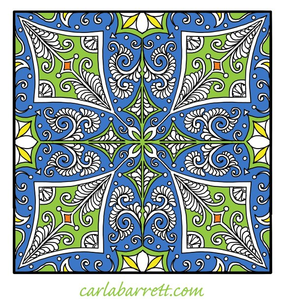 digital quilt design by Carla Barrett
