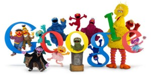 Example of Google Logo art created on Wacom  Cintiq Tablet