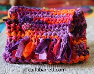 fabric crochet purse / bag by Carla Barrett